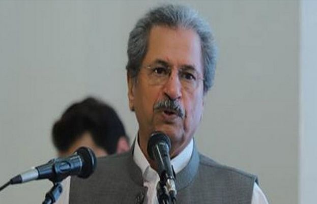 Minister for Federal Education and Professional Training Shafqat Mahmood