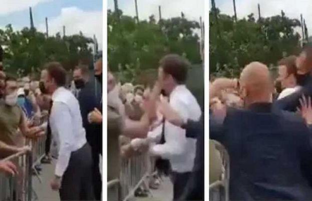 Man slaps French President Emmanuel Macron