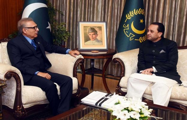 CM GB called on President Alvi in Islamabad