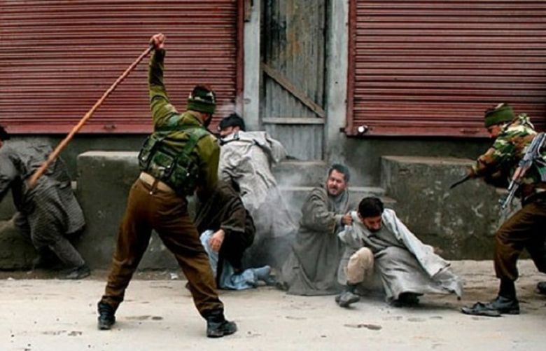 Indian troops martyr two protesters including woman in IOK