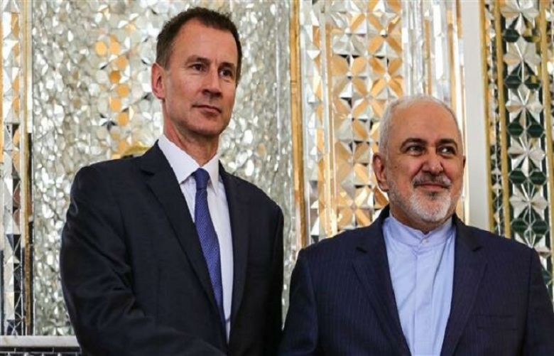 Iranian Foreign Minister Mohammad Javad Zarif and his British counterpart Jeremy Hunt