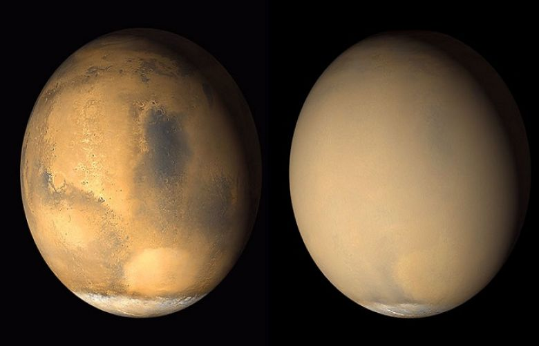 Mars dust storm transform the entire planet