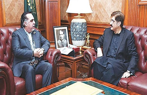 Sindh Governor Imran Ismail and Chief Minister Murad Ali Shah