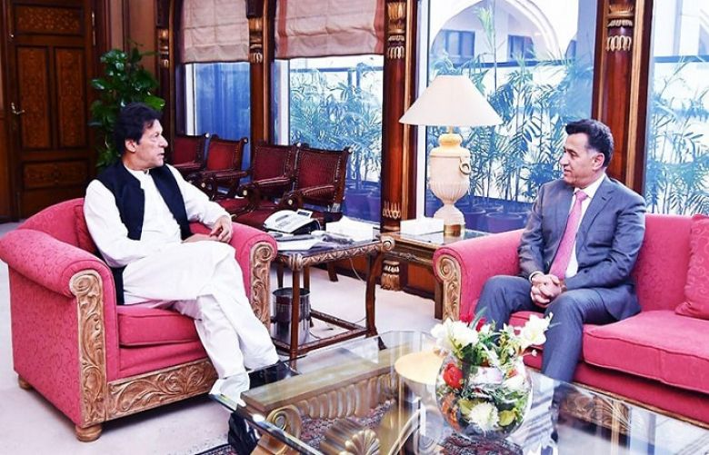 DG ISI calls on PM Imran