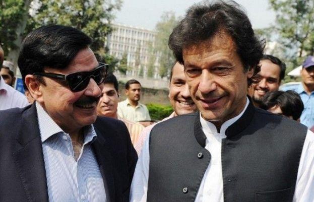 Imran Khan With Shaikh Rasheed