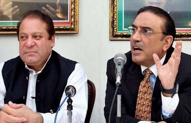 PPP President and co-chairman Asif Ali Zardari and PML-N supremo Nawaz Sharif