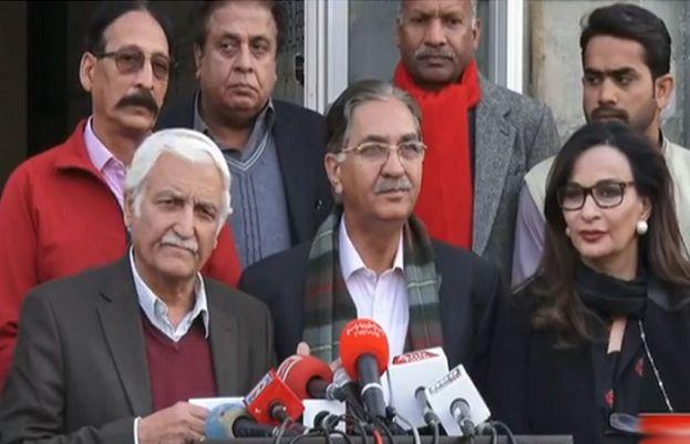 Farhatullah Babar, Shereen Rehman and Nayyar Bukhari