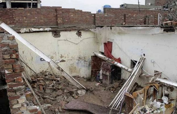 Three members were killed when the roof of a house caved in Mirpur city