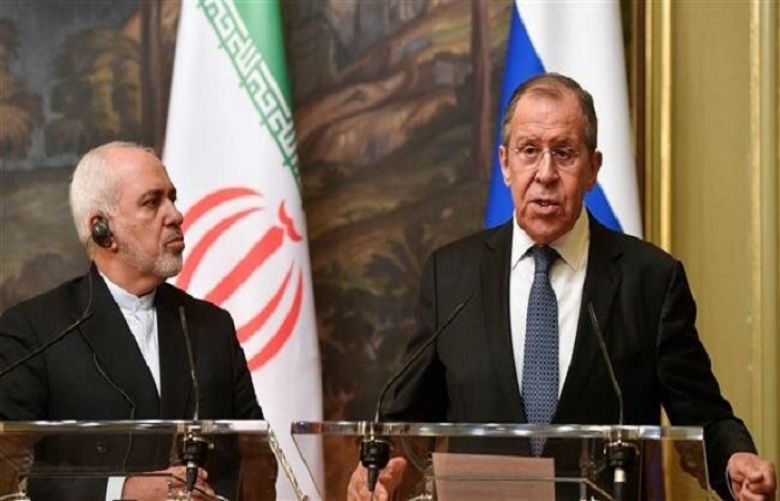 Iranian Foreign Minister Mohammad Javad Zarif attended a joint press conference with Sergei Lavrov.