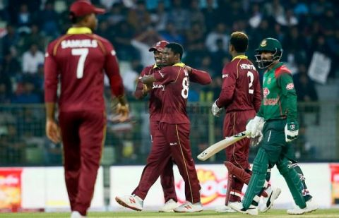 Bangladesh won the toss and elected to bowl first against West Indies