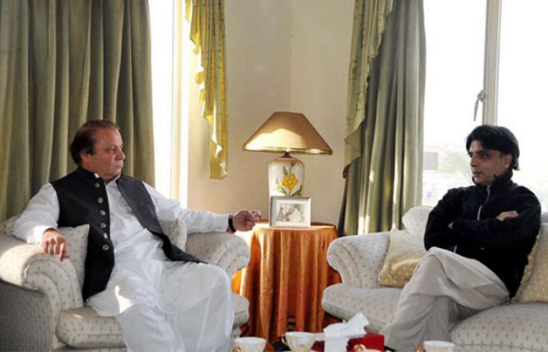 Prime Minister Nawaz Sharif and Interior, Chaudhry Nisar Ali Khan