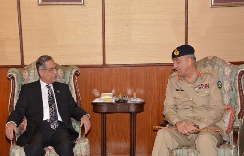 Army Chief meets CJP