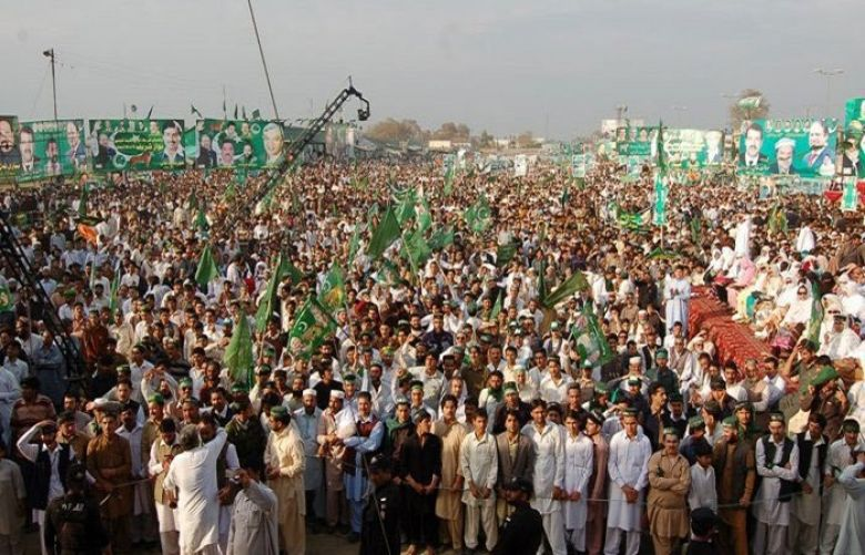 Pakistan Muslim League-N (PML-N) rally in Mansehra