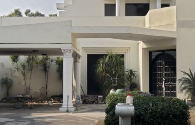 Former finance minister Ishaq Dar's residence in Lahore