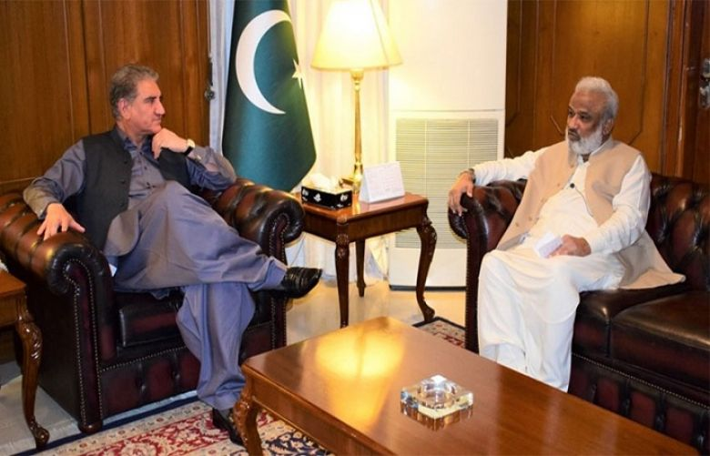 Foreign Minister Shah Mahmood Qureshi and former Chief Minister Sindh Dr Arbab Ghulam Rahim