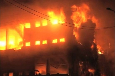 Karachi: chemical factory catches fire