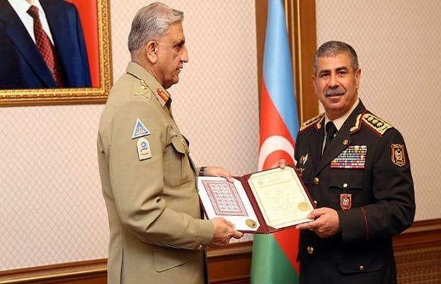 Chief of Army Staff (COAS) General Qamar Javed Bajwa on Monday held talks with Azerbaijan President Ilham Aliyez and Col. Gen. Hasanov Zakir Oglu