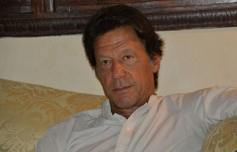 Chairman Pakistan Tehreek-e-Insaf (PTI) Imran Khan