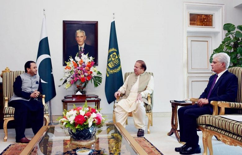CM GB Hafiz Hafeez-ur-Rehman called on PM Nawaz Sharif at PM House.