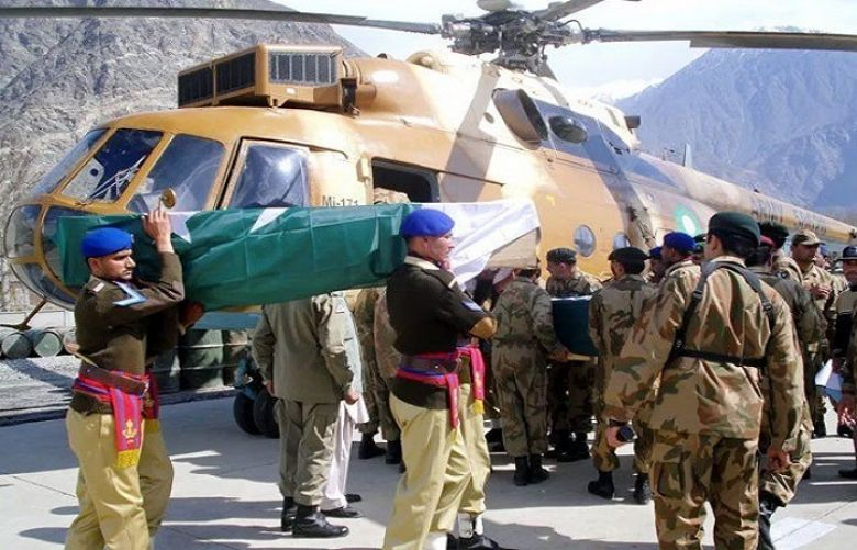 Funeral for 3 army personnel martyred in Siachen avalanche