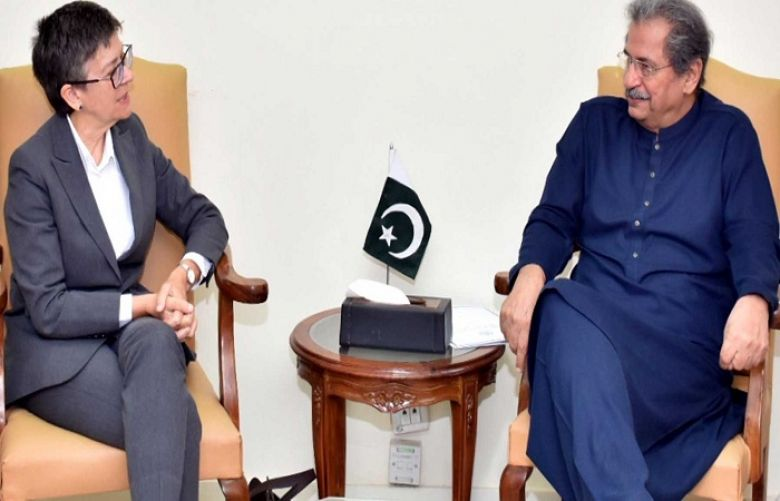 Minister for Education Shafqat Mehmood was talking to Australian High Commissioner Margaret Adamson