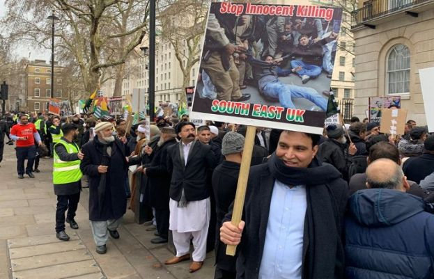 Protest march held in London to show solidarity with people of IOK
