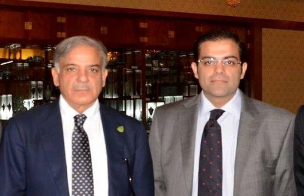 PML-N President Shahbaz Sharif and his son Salman