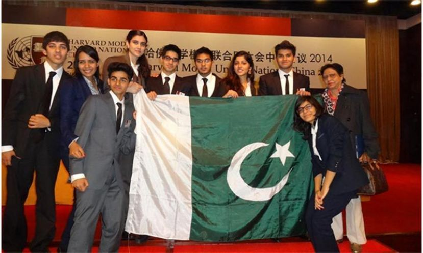 The ten member KGS delegation represented Pakistan at the Harvard Model United Nations.
