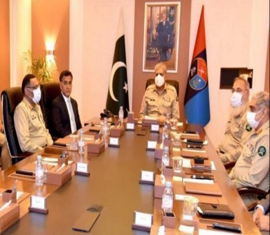 Army chief given security briefing during visit to ISI headquarters