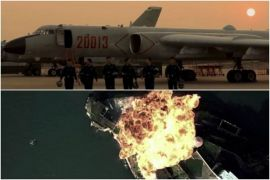 China air force video appears to show simulated attack on U.S. air base on Guam