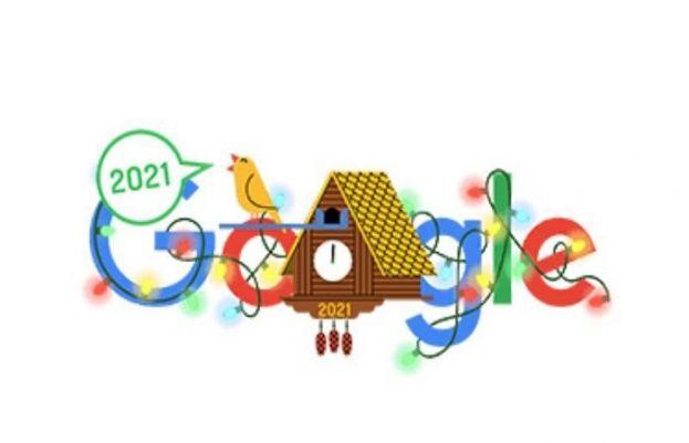 گوگل نے نئے ڈوڈل کے ساتھ 2021 کا آغاز کر دیا