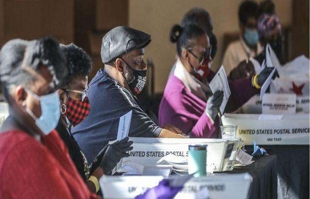 جارجیا میں ووٹوں کی دوبارہ گنتی