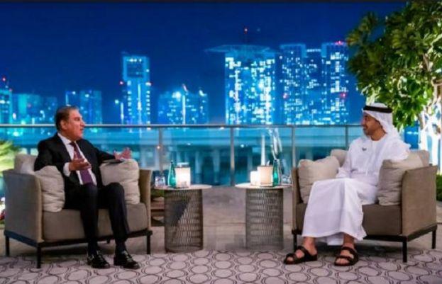 شاہ محمود قریشی اور شیخ عبداللہ بن زید النہیان