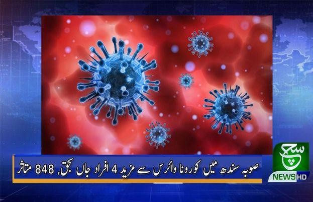 صوبہ سندھ میں کورونا وائرس