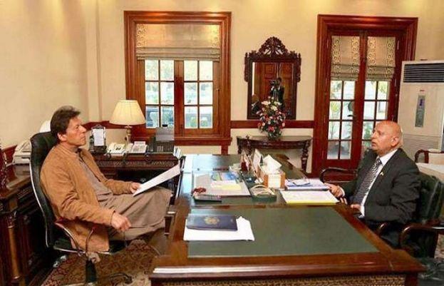 چوہدری محمد سرور اور وزیر اعظم عمران خان