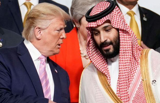 سعودی ولی عہد محمد بن سلمان اور امریکی صدر ڈونلڈ ٹرمپ