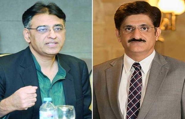 وزیراعلیٰ سندھ سید مراد علی شاہاور وفاقی وزیر منصوبہ بندی وترقی اسد عمر