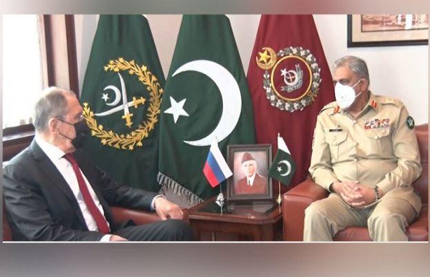 آرمی چیف سے روسی وزیر خارجہ سرگئی لاروف کی ملاقات