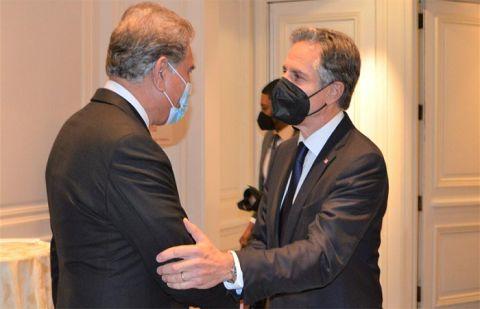 وزیر خارجہ شاہ محمود کی امریکی سیکریٹری آف اسٹیٹ سے ملاقات، افغان ایشو پر تبدلہ خیال