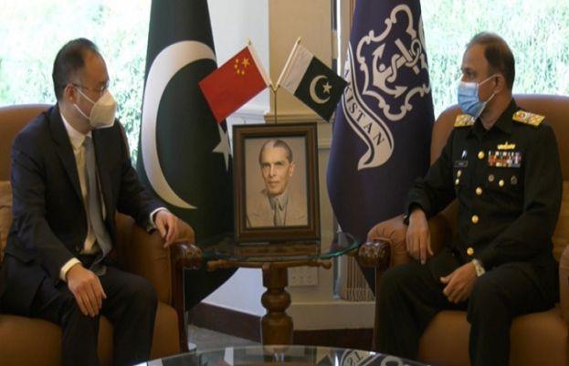 پاک بحریہ کے سربراہ ایڈمرل امجد خان نیازی سے چینی سفیر کی ملاقات