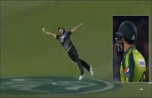 نیوزی لینڈ کے کھلاڑی ڈیرل مچل نے حیدر علی کا ناقابل یقین کیچ پکڑ کر دیکھنے والوں کو حیران کردیا