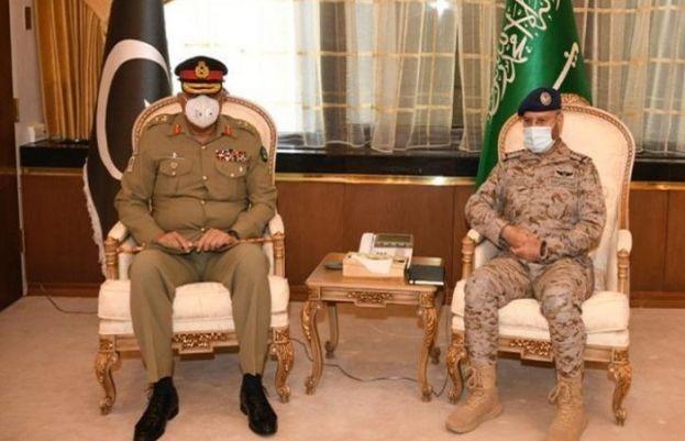 آرمی چیف کی سعودی چیف آف جنرل اسٹاف سے ملاقات، دفاعی تعاون پر تبادلہ خیال