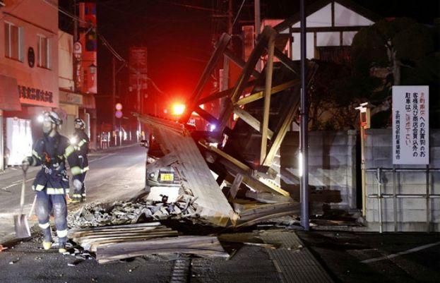 جاپان میں زلزلے کے شدید جھٹکے