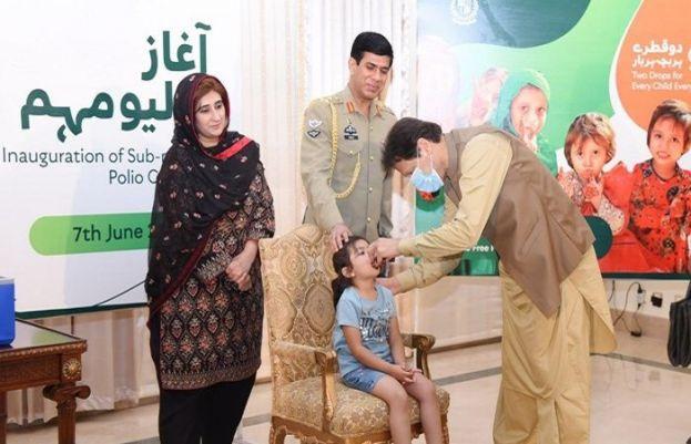 وزیراعظم عمران خان اسلام آباد میں قومی انسداد پولیو مہم کا افتتاح کررہے ہیں