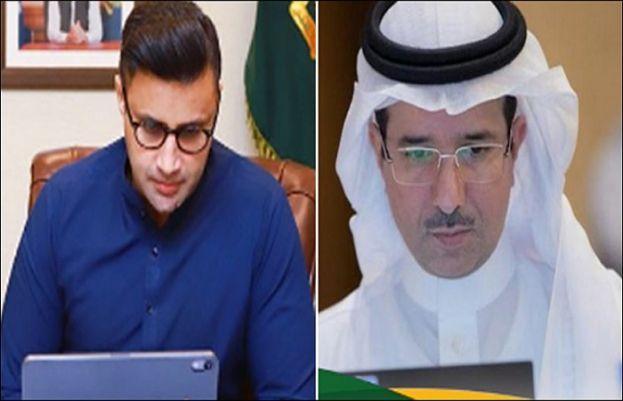 معاون خصوصی برائے اوورسیز پاکستانی زلفی بخاری اور سعودی نائب وزیر برائے انسانی وسائل