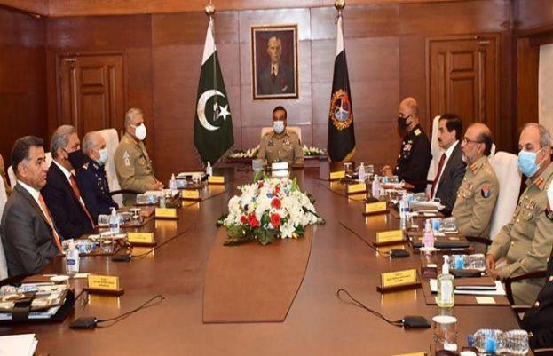 چیئرمین جوائنٹ چیفس آف اسٹاف کمیٹی جنرل ندیم رضا کی سربراہی میں جوائنٹ چیفس آف اسٹاف کمیٹی کا اجلاس