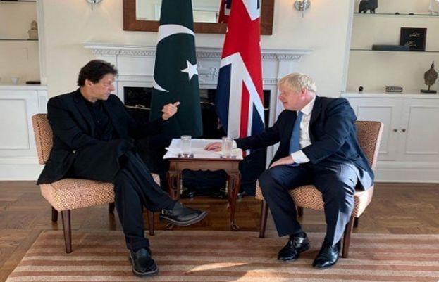 وزیراعظم عمران خان اور برطانوی وزیراعظم بورس جانسن