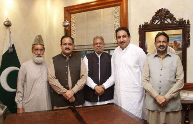 وزیراعلیٰ پنجاب عثمان بزدار سے مسلم لیگ ن کے اراکین پنجاب اسمبلی کی ملاقات