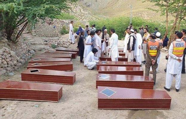 کوہاٹ میں اجتماعی قبر سے نکالے گئے مقتولین کی نماز جنازہ ادا کر دی گئی