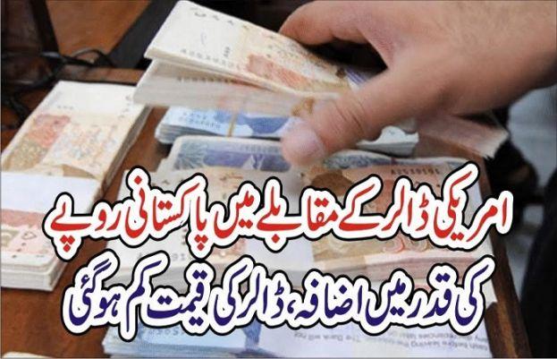 امریکی ڈالر کے مقابلے میں پاکستانی روپیہ تگڑا ہوتاجارہاہے